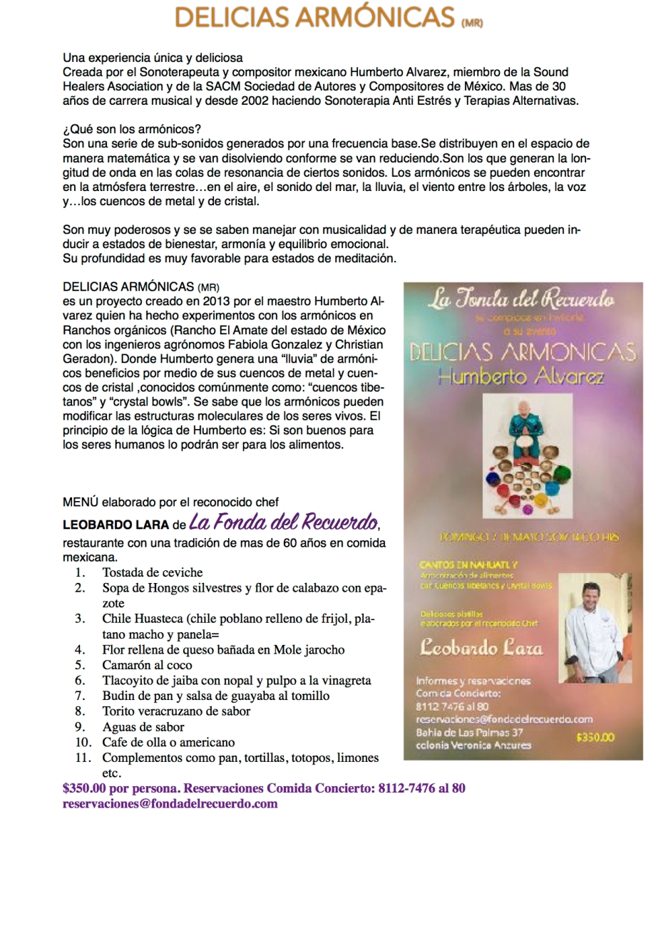 Delicias Armonicas boletin 2017 precio JPEG